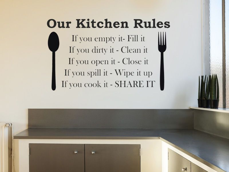 ... Our Kitchen Rules Wall Art Sticker, Wall Art, Sticker, Decal, Modern  Transfer